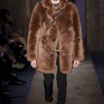 Burberry Coach 1941 brown mens faux fur coat