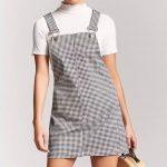 Gingham Mini Overall Dress
