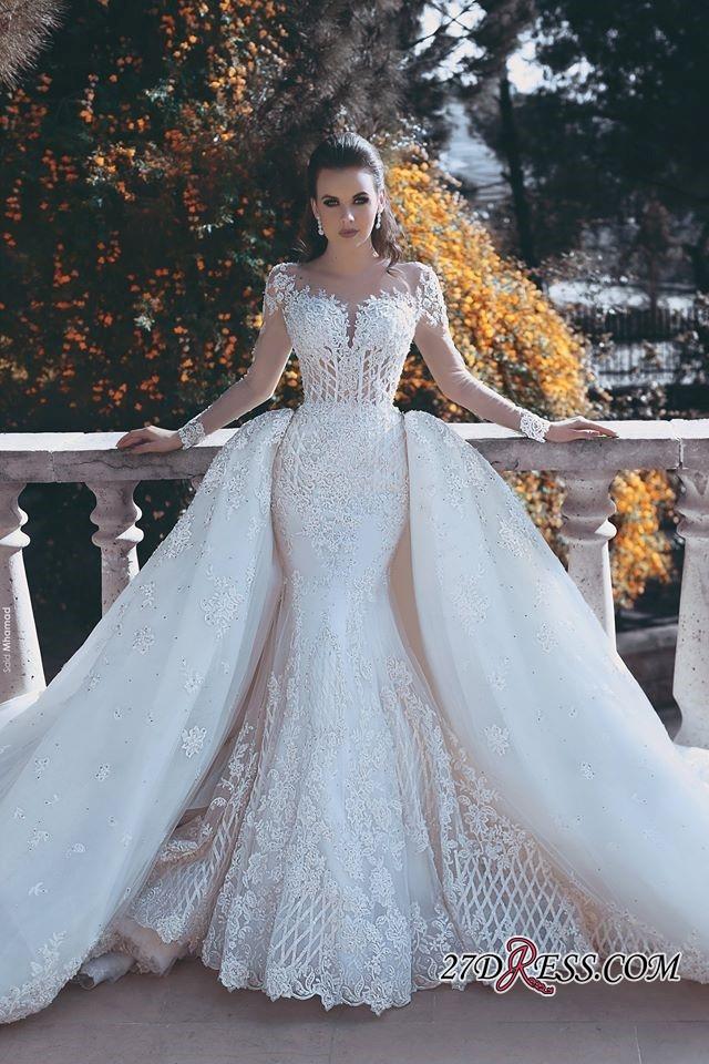 Glamorous Long Sleeve Lace 2019 Wedding Dress Mermaid On Sale