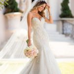 6654 Mermaid Wedding Dress with Glamorous Lace by Stella York