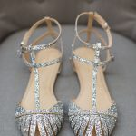 Pretty flats for the big day <3 Glitter Flats, Sparkly Flats, Silver
