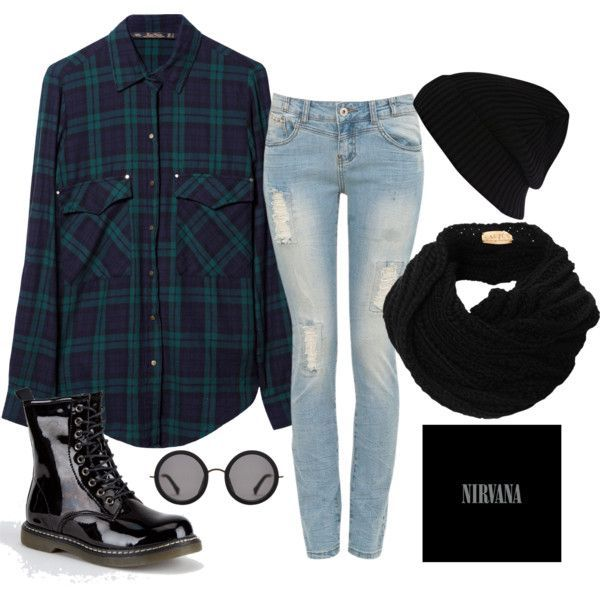Grunge Inspired Polyvore Looks
