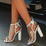 New Model Women Stylish High Heel Sandals Wholesale China Beautiful Girls Sandals  Summer Shoes 2018