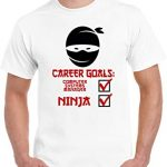 Traveller Location: Career Goals Computer Systems Manager Ninja Unisex T Shirt:  Clothing