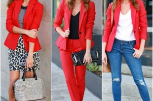 Sydne Style how to wear a red blazer express staple jacket outfit  inspiration fall trends 2014 blogger style