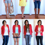 Putting Me Together- love this blazer and all the outfits shown! Esp the  leopard scarf ensemble.