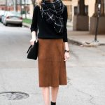 A Blogger-Approved Way To Style A Suede Skirt