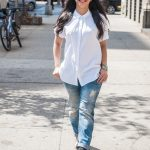 Stylish girl wearing boyfriend jeans. Image: Malike Sidibe/Sheknows