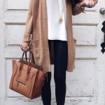 #fall #outfits / Beige Cardigan - Cheetah Flats