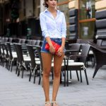 Summer Fashion in Long Sleeves and Denim Shorts what to wear