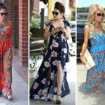 Celebrity wearing maxi dress and heels
