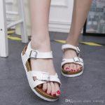 Summer Sandals Women Platform Shoes Woman Cork Beach Sandals Slippery Flat  Wear Resisting Women Casual Sandalias Black White Color Wholesale Gold  Sandals