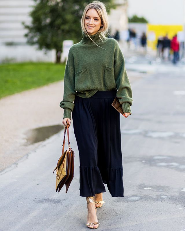 How To Wear Sweaters With Midi Skirts