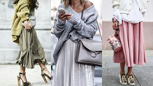 How To Wear Sweaters With Skirts