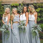 Image result for tropical wedding bridesmaids dress