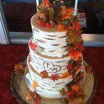 Fall wedding cake More