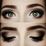 A warm chocolate smokey eye look, perfect fall makeup. Wanna try this :)