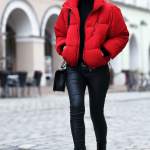 Todays Outfit | Red Puffer Jacket