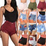 Image is loading Women-High-Waist-Denim-Jeans-Shorts-Hotpants-Summer-