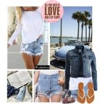 Jean Shorts To The Beach for Summer
