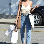 Casual Outfit Idea: A Silky Cami and High-Waisted Jeans