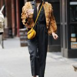 Vanessa Hudgens Enjoys an Iced Coffee on her way to Broadway