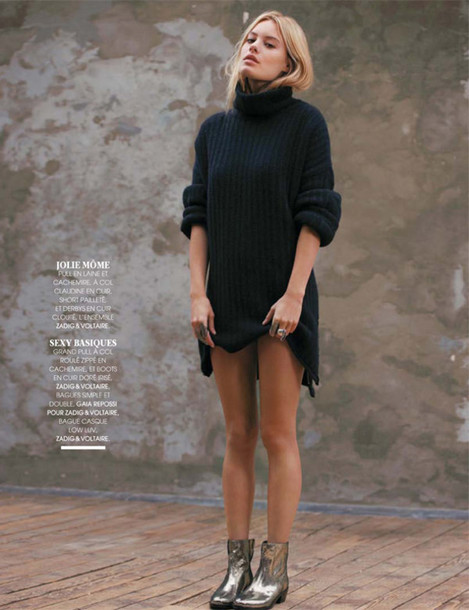 Knitted Dresses With Ankle Boots