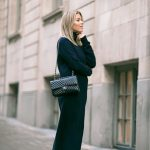 dress tumblr long dress maxi dress maxi knit dress knitwear knitted dress  black knit dress black
