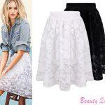 2019 Wholesale Woman Summer Skirts Womens 2015 Fashion White Black Lace  Wild High Waist Midi Skirt Casual Pleated Adult Tutu Skirt Women Y304 From  Jilihua,