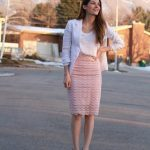 Lace Skirt with Sheer