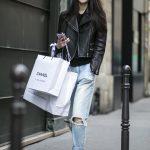 boyfriend jeans and leather jacket   STYLE   DENIM   Pinterest