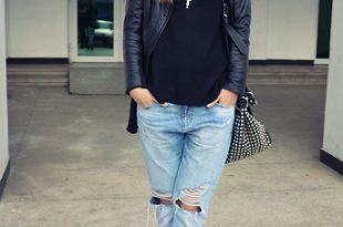 Sorana Nistor - Zara Leather Jacket, Zara Ripped Boyfriend Jeans
