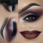 Brown Eye Makeup with Brown Lips Look