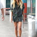 shirt skirt ankle boots ciara camouflage mini skirt vintage camouflage  jacket military style black leather skirt