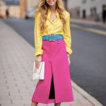 Neon Fashion Trend: Try pairing neon colours together with white accessories