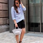 lace shorts with lace-up flats
