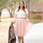 pink tulle skirt outfit ideas with suede moto jacket, lace-up pumps