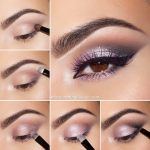 Glamorous Smoky Eye Makeup Tutorials For Stunning Party & Night-out Look -  Silver/Purple Smoky Eye Makeup Tutorial