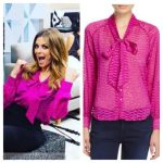 E! News: September 2016 Maria's Hot Pink Tie Neck Blouse | Shop Your TV
