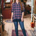 London Plaid Blouse
