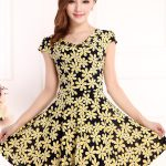 Floral Printed Dresses Casual Short Dress Womens Female Summer Clothes Big  Size L 4XL Cheapest Clothing New Fashion 2017 Designer Cocktail Dresses  Vintage
