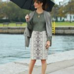 silver pencil skirt JCrew skirt - maroon ankle boots Steve Madden boots