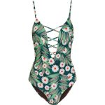 Mara Hoffman Cutout printed swimsuit ($350) ❤ liked on Polyvore featuring  swimwear, one