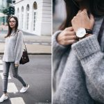H&M trend grey mohair sweater outfit ideas for all grey outfit