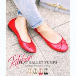 Red Flat Pumps