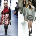 Skirt 2016 2017 fall winter: plaid