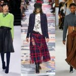 skirt or a stylish pleated skirt. The 2018 fall-winter season clearly  dictates the new rules that we will have to follow to create relevant looks.