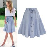 2019 Midi Skirt 2017 Summer Women Clothing High Waist Pleated A Line Skater  Vintage Casual Knee Length Saia Petticoat From Marrisha, $25.43 | Traveller Location