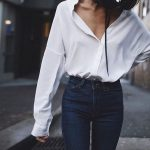 shirt streetstyle streetwear street white shirt denim fashion style blogger  long sleeves top white top white