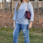 Stripes & Boyfriend Jeans. striped-tee